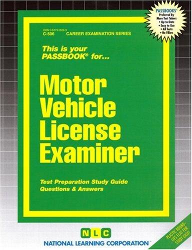 Motor Vehicle License Examiner(Passbooks)