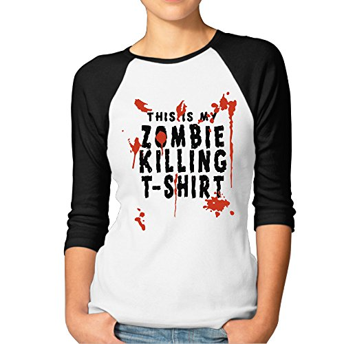 This Is My Zombie Killing 3/4 Sleeve Shirts Tee Personalized (Best Zombie Killing Music)