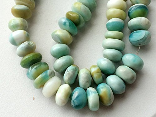 1 Strang Natur Grün Opal Uni Rondelles, 10–11 mm grün Opal Opal grün Perlen, Grün Opal Halskette 15,2 cm lang 1a3ccd