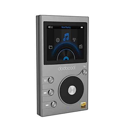 "dodocool 8GB Hi-Res Lecteur de Musique Audio Digital sans Perte Hi-Fi avec Enregistreur Vocal et Radio FM LCD Ecran 2"" et Extensible 256GB,Gris"