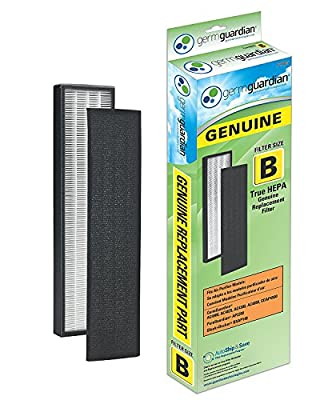 GermGuardian AC4825 3-in-1 Air Cleaning System with True HEPA Filter, UV-C Sanitizer, Allergen and Odor Reduction, 22-Inch Air Purifier (1 Filter)