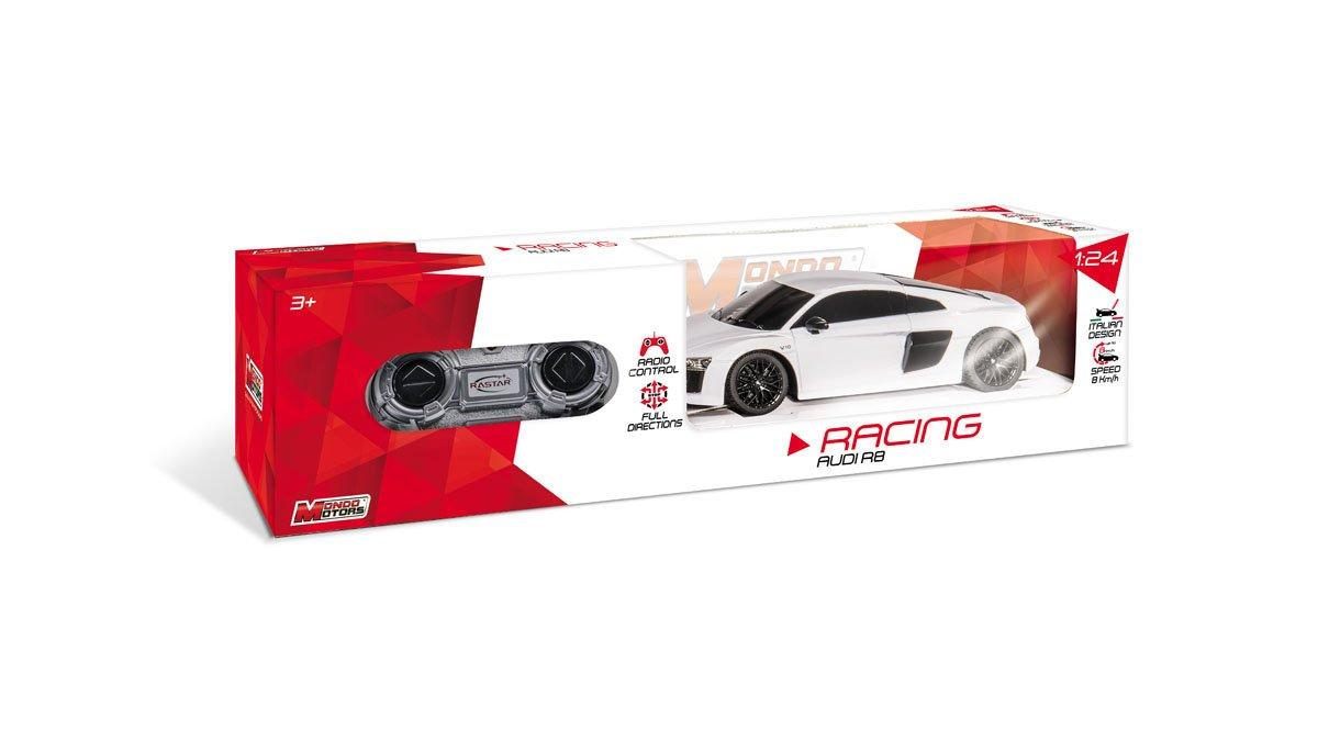 Mondo Audi R8 Veicolo Radiocomandato Scala 1:24, Colore Rosso/Bianco, 1899-12-31T01 00.000Z, 63379
