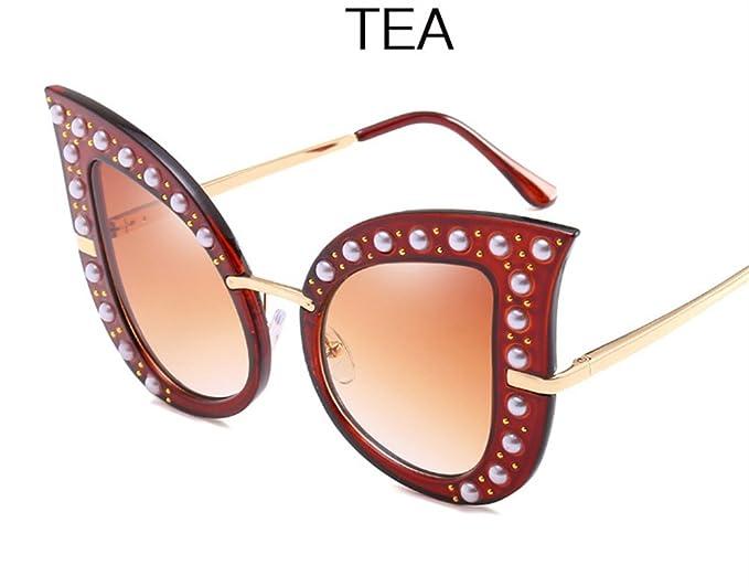 WHLDK Occhiali Da Sole Elegante Scatola Grande Rivetti Occhio Di Gatto Occhiali Da Sole Ms. Occhiali Da Sole 9iCWM