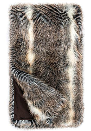 Donna Salyers Faux Fur Throw Blanket - Cross Fox (60X60) -  Fabulous-Furs
