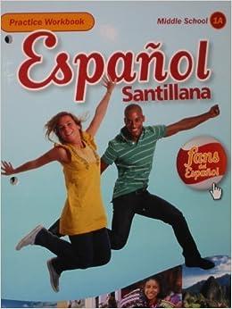Book Espa�ol Santillana Practice Workbook Level 1A