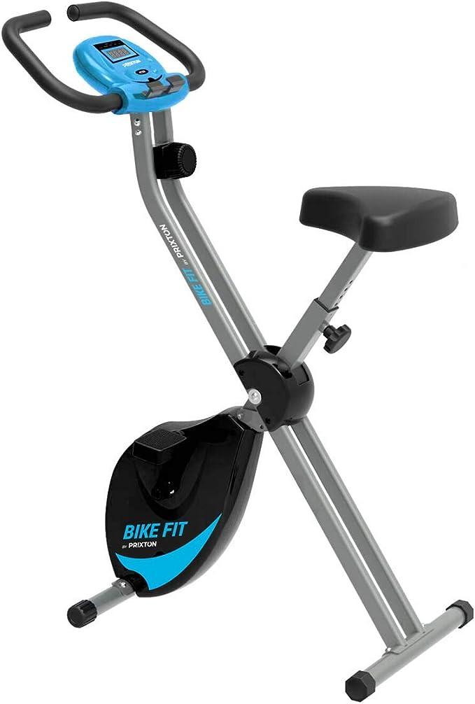 PRIXTON Bike Fit BF100 - Bicicleta Estatica Plegable con 8 Niveles de Resistencia, Ajuste de Asie...
