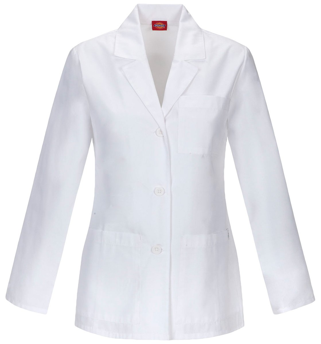 Dickies 84401A Women's 28-in Antimicrobial Lab Coat White X-Small