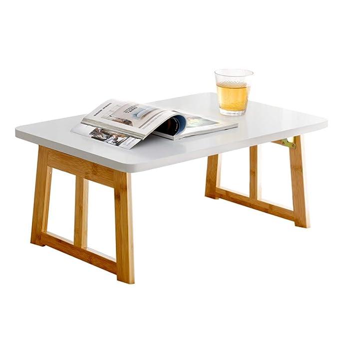 mesa plegable De Madera Mesa De Ordenador Dormitorio Cama Estudio ...