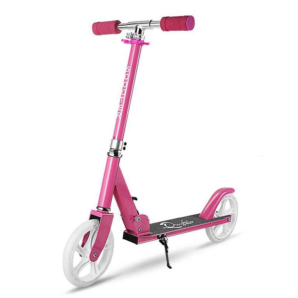 Monopattino- Scooter rosso Kick per Bambini, Scooter Pieghevole per Bambini A 2 Ruote, Altezza Massima 100 Cm, età 8 Anni E Oltre (colore   rosa)
