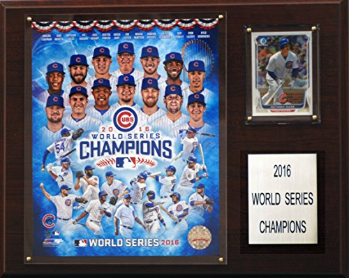 C&I Collectables MLB Chicago Cubs Men's 2016 World Series Champions Plaque, Brown, 12