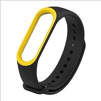 Ersatzband für Xiaomi Mi Band 3, Zweifarbig Silikon Weiches Ersatzband Sport Uhr Band Für Xiaomi Mi Band 3 Armband