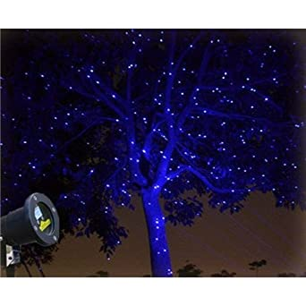 Wonderful Update 2.0 Newest Blue Firefly Garden Tree And Outdoor Wall Decoration  Laser Lights With RF Remote