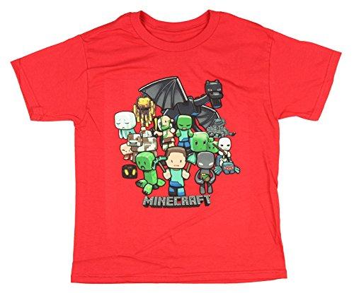 Minecraft Party Boys T-Shirt (Red, XXL 18)
