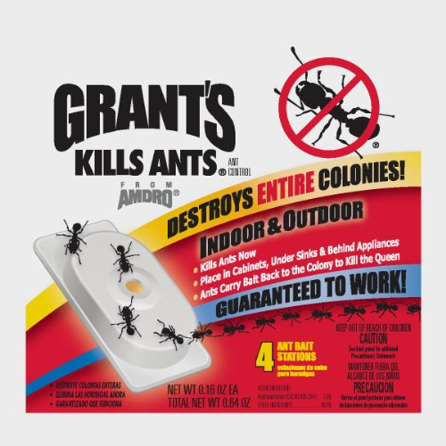 Grants 100500080 4 count indoor ant bait for Ant infestation in kitchen cabinets