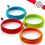 I DREAM Egg Ring, Silicone Egg Rings Non Stick, Egg Cooking Rings, Perfect Fried Egg Mold or Pancake Rings(4 Circles)