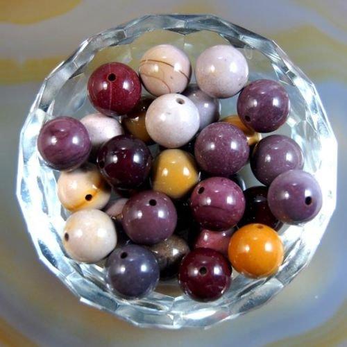 (AD Beads Natural Gemstone Round Spacer Loose Beads (10mm 40pcs,)