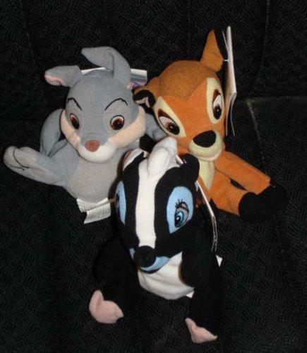Disney Thumper, Bambi, and Flower Plush Beanie