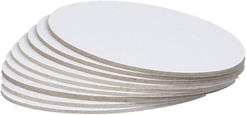 portatile JUSTDOLIFE JUSTDOLIFE Pannello di tela per artisti 10 pezzi m bianco in cotone
