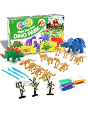 TBC The Best Crafts Air Dry Clay Set, 27 Pieces Clay Kit with Dinosaur Model, Non-Toxic Craft Toys, Make Your Own Dinosaur Figures, Perfect Birthday Gifts for Kids, Ideal Home School Supplies