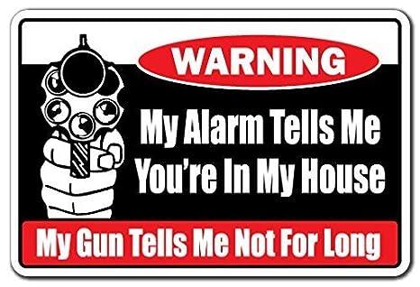 Quote Sign de aluminio mi alarma Me dice que estás en mi ...