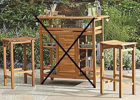 Cheap Westerly Acacia Wood Barstools (Set of 2)