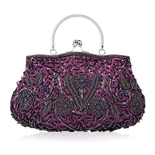 Femme Violet Argent JAGENIE pour Silver Pochette q8pq0P