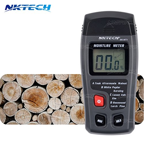 NKTECH NK-WT1 Digital LCD Display Portable 0-99.9% Lumber Wood Moisture Humidity Meter Integral Auto Power off Detector Tester 2 Pins Probe