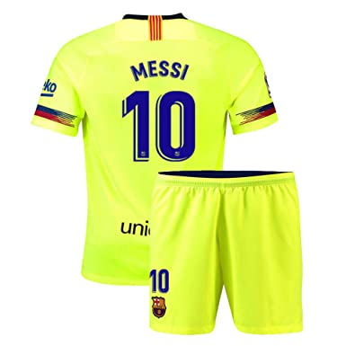 e25902eb5 Amazon.com  Nmfdz Youth Messi  10 FC Barcelona Kids Away New 2018 19 ...