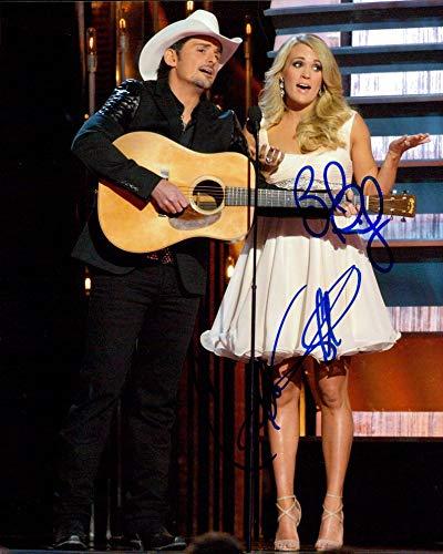 Brad Paisley & Carrie Underwood signed 8x10 photo