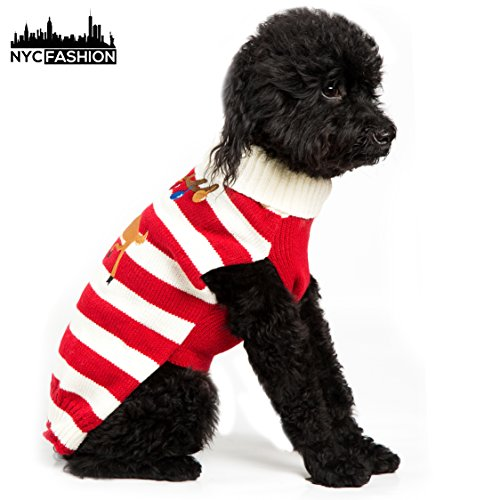 NYC Fashion Pet Holiday Sweater for Dogs (Length Size: S-10