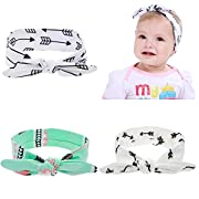Lebo Baby Knot Rabbit Ear Headbands Baby Girls Arrow Style Turban Headwraps 3pcs/lot