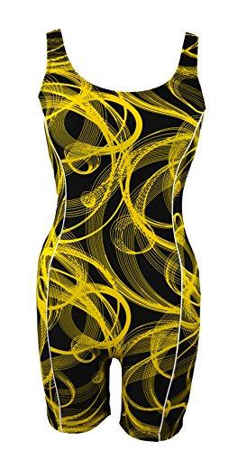 UPC 852660521520, Adoretex Womens Unitard Swimsuit-FU004-Gold/Black-L