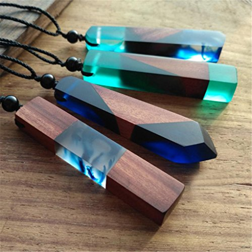 Personalized Handcrafted Wood (Sinwo Creative Mahogany Solid Wood Personalized Pendant ,Necklaces,Sweater Chain Christmas Gift!! (product at random A))