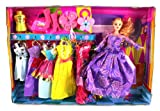Fab Charming Girl Toy Doll Playset, Comes w/ Doll, Variety of Unique Dresses, Accessories