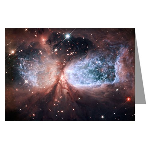 Assorted Note cards Of NASA Hubble And Spitzer Space Telescope 12 card Boxed Set (Telescope Spitzer Space)