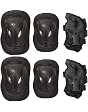 6 in 1 Outdoor Sport Blading Elbow Knee Wrist Protective Gear Pads for Adult and Kids Thicken Skateboard Cycling Roller Skating safety