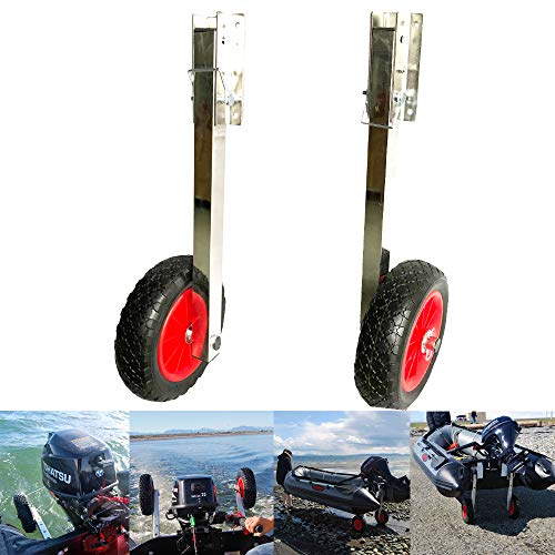 Prairie Metal Deluxe Boat Launching Wheels System for Zodiac Type Inflatable Boats and Aluminum Boats ()