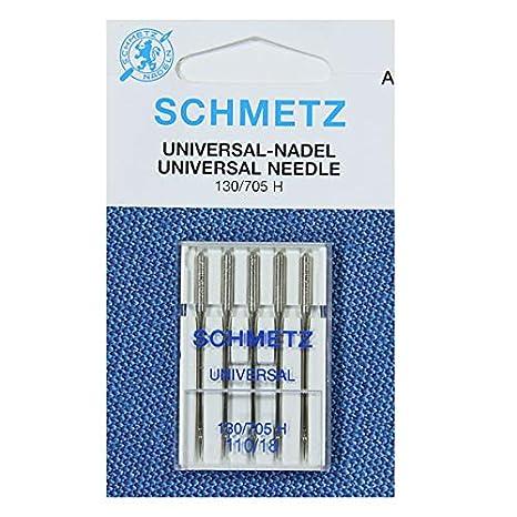 Schmetz - Agujas para máquina de coser (tamaño 110/18, 5 ...