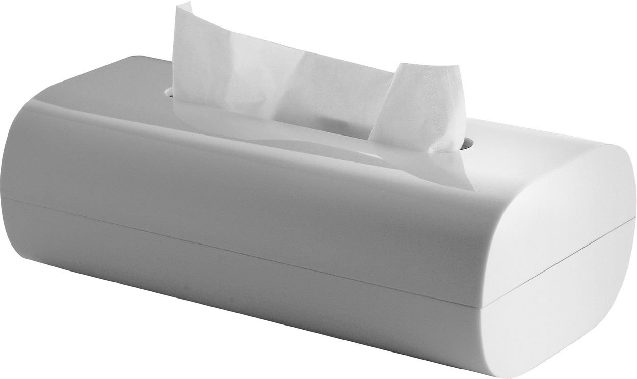 Alessi Birillo Tissue Box, White PL07 W