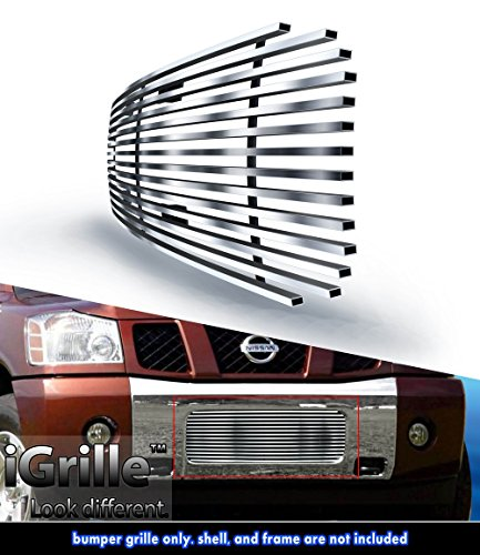 eGrille Fit 04-14 Nissan Titan/04-07 Armada Bumper Stainless Billet Grill Insert (Nissan Titan Accessories Grill compare prices)