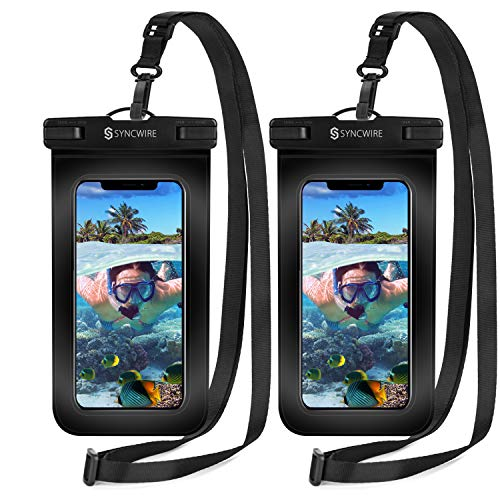 Syncwire Waterproof Phone Pouch [2-Pack] – Universal IPX8 Cell Phone Waterproof Case Dry Bag Protector with Lanyard for…