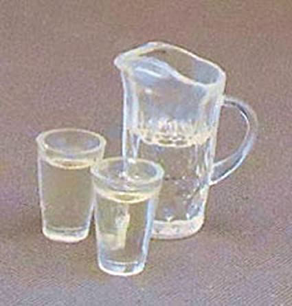 PITCHER AND 2 GLASSES OF OJ DOLL HOUSE  MINIATURE