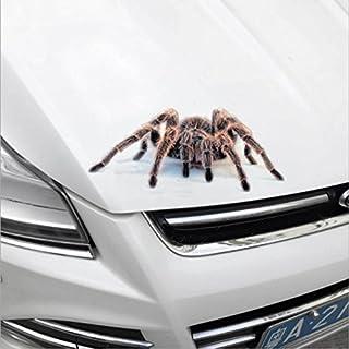 (RED Spider)3D Car Sticker Simulation Animals Bumper Retrofit Stickers for Spider Gecko Scorpions