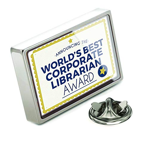 (NEONBLOND Lapel Pin Worlds Best Corporate Librarian Certificate)