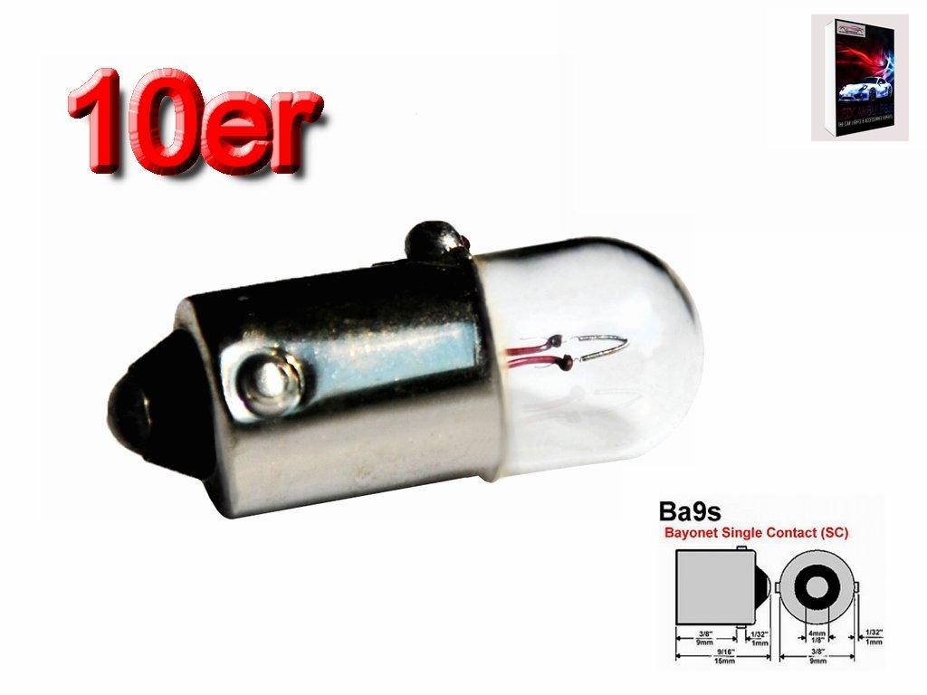 10/x colvic/® de verre libre de la Ampoule Voiture BA9S 12/V t2/W 2/W 233/Side Nombre de queue du Plat Int/érieur Lumi/ère et cz27er Marcato