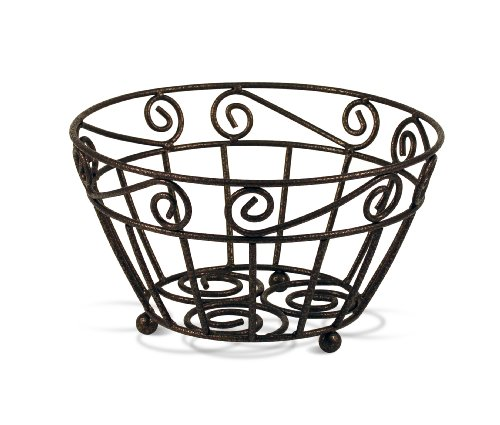 Spectrum Diversified Scroll Fruit Bowl Hammered Finish, Bronze - Federal Bronze Finish