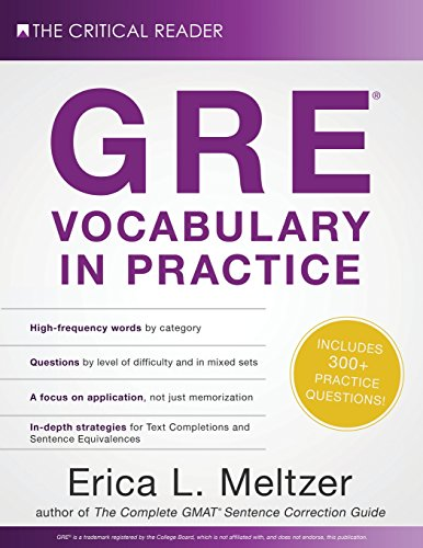 Pdf Test Preparation GRE Vocabulary in Practice