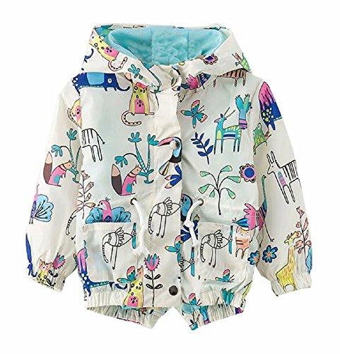 Jingle Bongala Boys' Girls' Lightweight Jacket Hooded Windbreaker Cartoon Coat Outwear