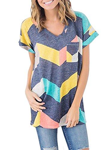zesica-womens-summer-short-sleeve-multi-color-chevron-stripes-casual-blouse-shirt-tops
