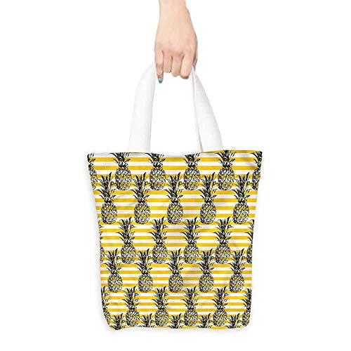 - Cosmetic bag,Fruits Modern Pineapple Motif,Canvas Shopping Beach Cloth Tote,16.5